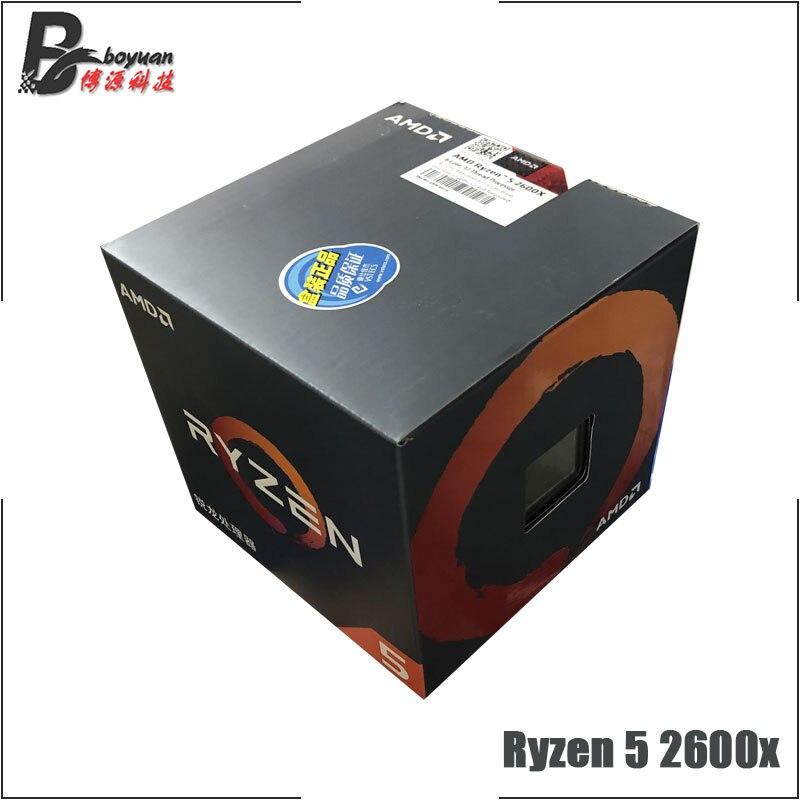 [해외]Amd ryzen 5 2600x r5 2600x3.6 ghz 6 코어 12 스레드 cpu 프로세서, One Size, One Color