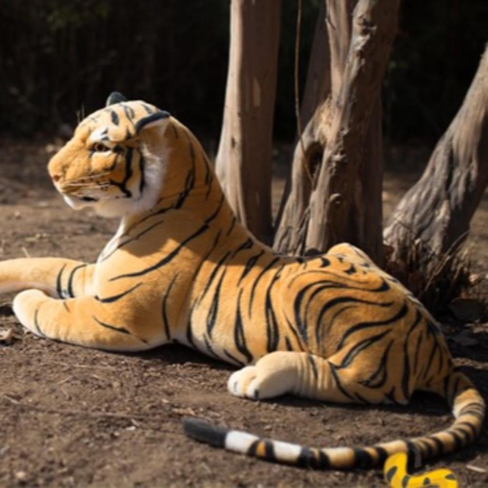 진짜같은 호랑이 인형 대형 큰 생일선물 리얼 백호, 60cmcm