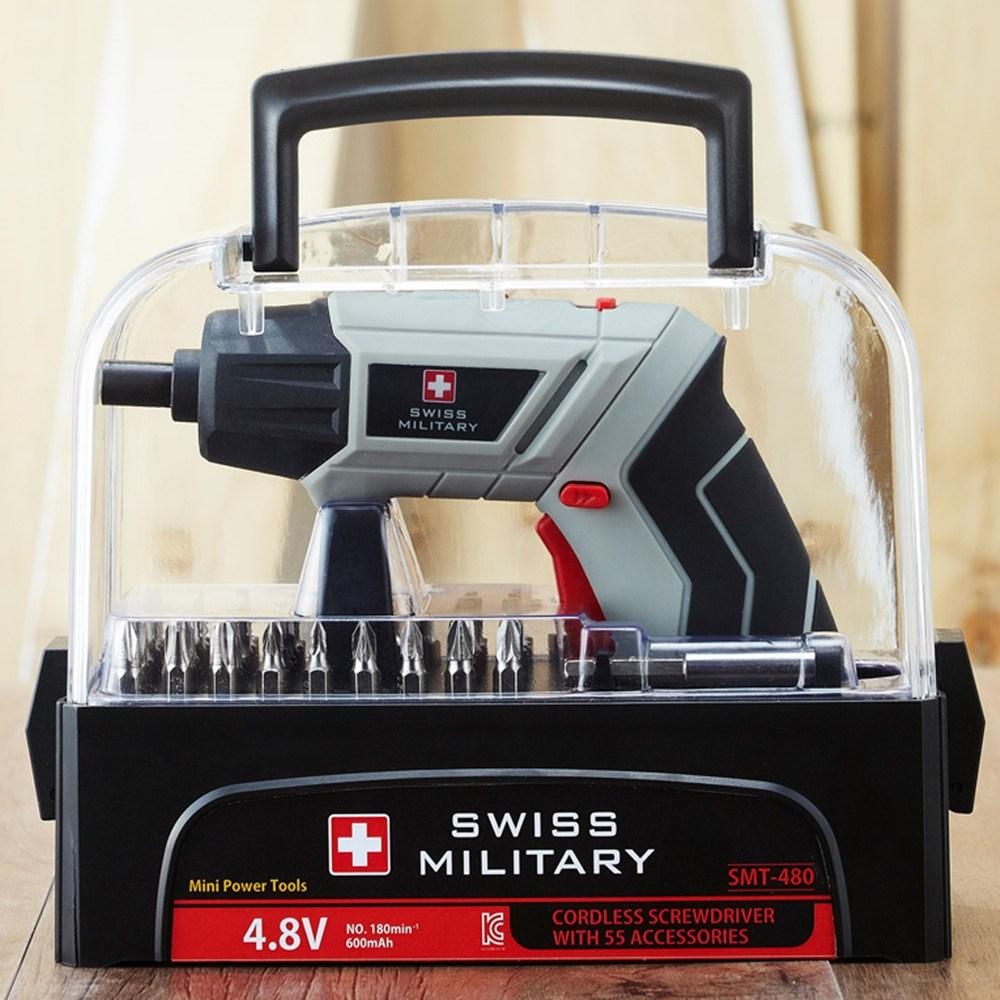 스위스밀리터리 스위스밀리터리전동드릴 미니전동드라이버 4.8V 소형전동 가정용 무선 SM 480A