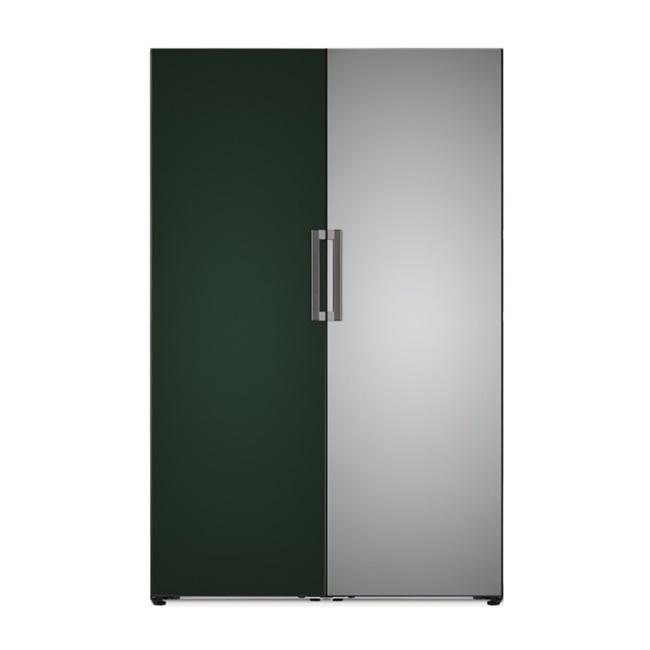LG전자 Y320AA + X320AA 오브제컬렉션 컨버터블 패키지 냉동+냉장 연결키트포함, 네이처(메탈) 그레이, 네이처(메탈) 화이트