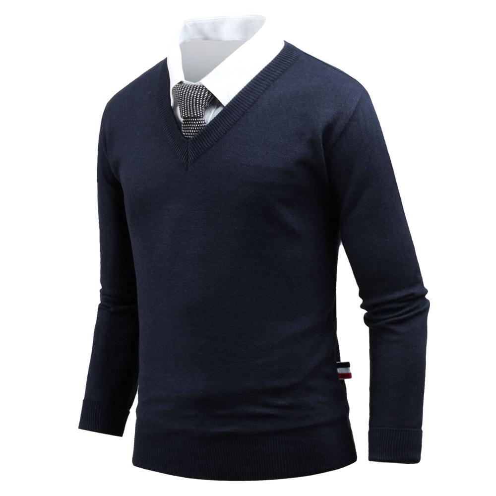 다꾸앙 남성용 스웨터 유행안타는 브이넥 니트 _ts3980