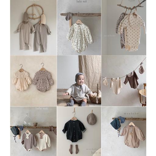 몽베베 신생아 가을슈트 모음전 3~24m 북유럽풍 아기옷 촬영룩