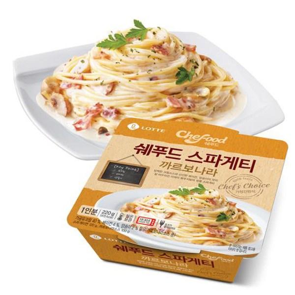 쉐푸드 까르보나라 냉동 스파게티, 220g, 5개