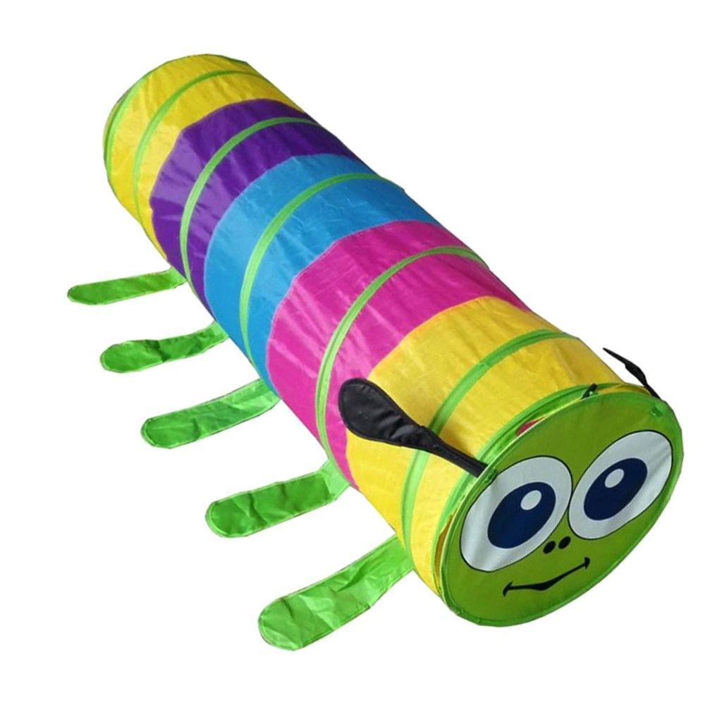 STK 애들은 다채로운 애벌레 실내 야외 터널 텐트 놀이 집 텐트 장난감