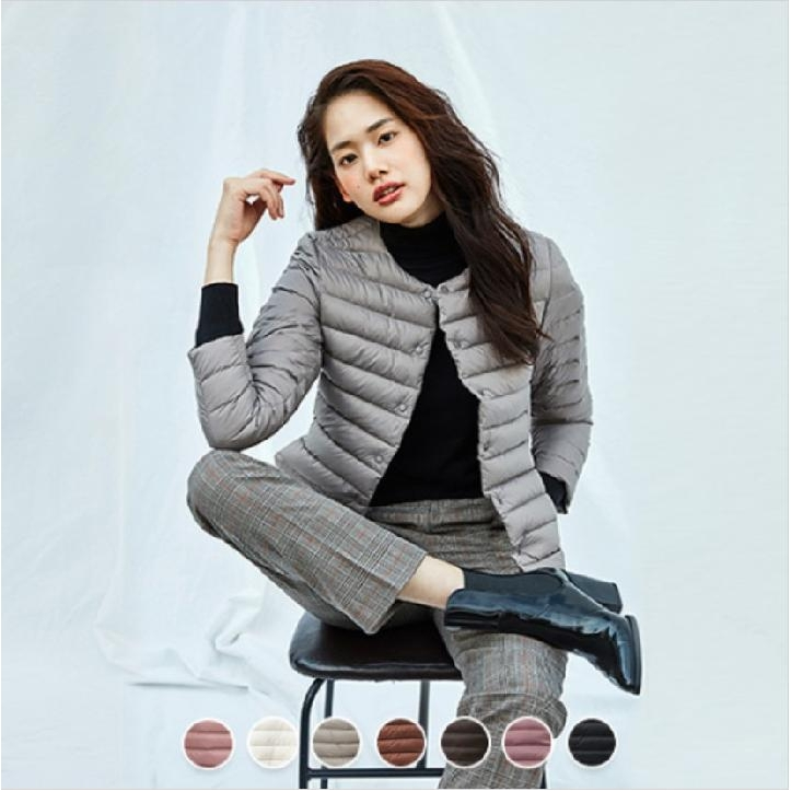 지오다노 HY [지오다노 HY] 여성 겨울 초경량 크루넥 자켓 05379905