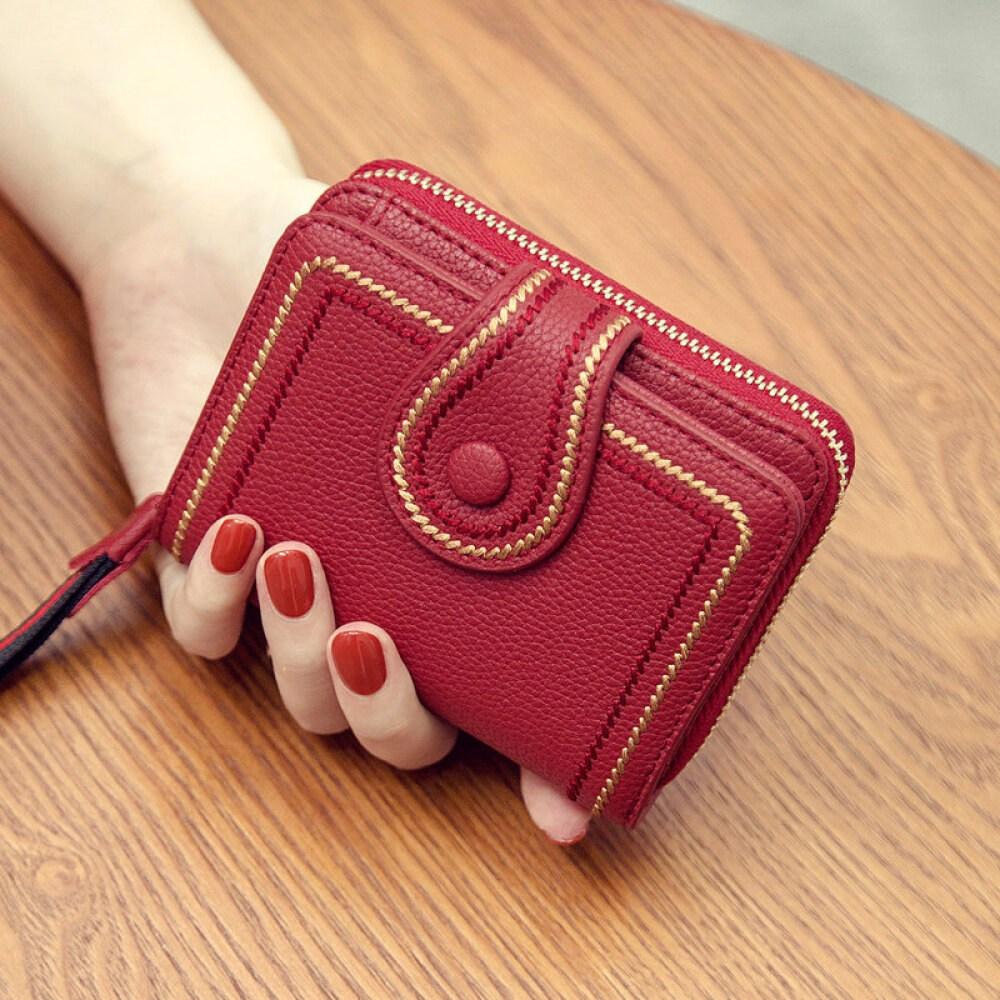DAISHU ㏑ 〮 㐃 [캥거루 공식 깃발 가게] 지갑 여자 상 큼 한 소녀 짧 은 한국 판 학생 다기 능 귀여운 버터 그린.