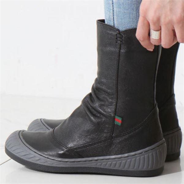 니나스파리 국내생산 기모안감 가죽부츠 4.5cm 9J893