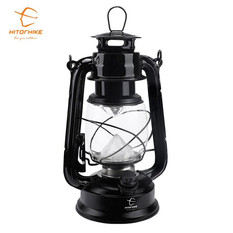 복고풍 캠핑랜턴 휴대용 램프, 개, 블랙