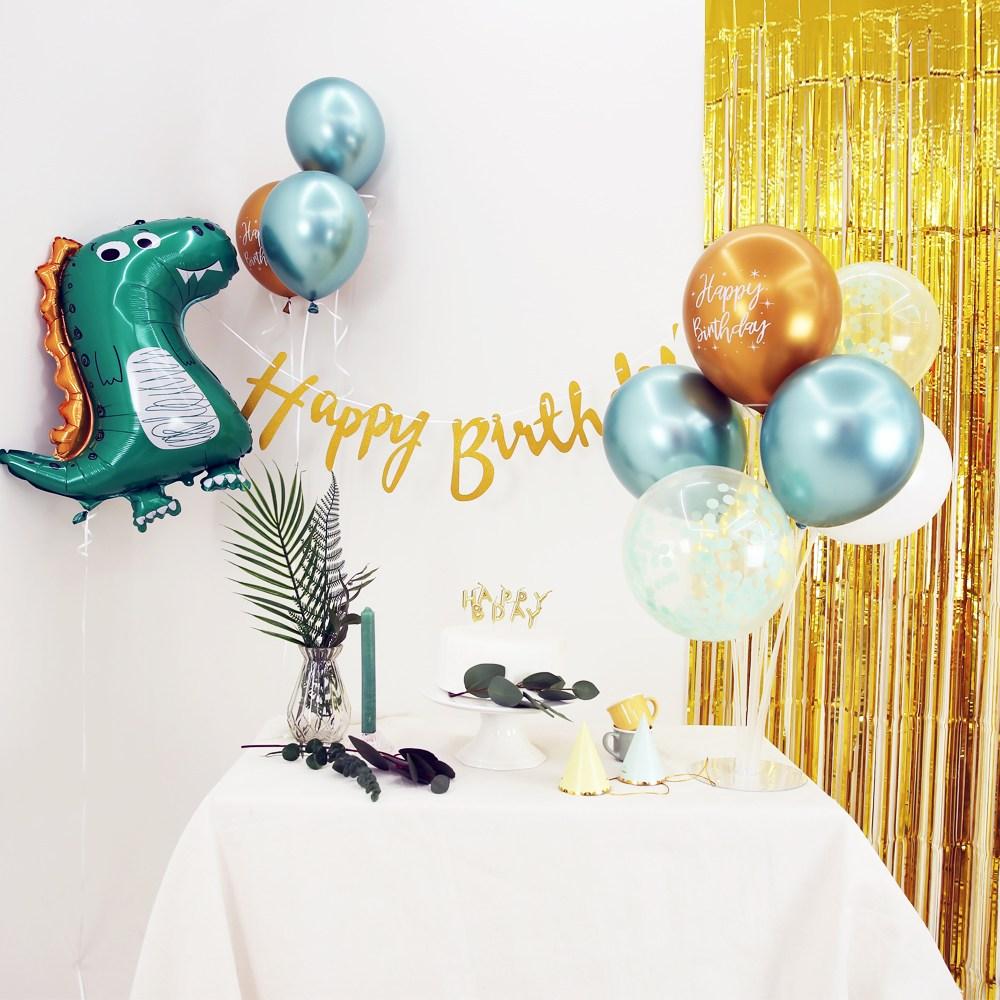 고르고 공룡 생일 파티 이벤트 풍선 풀세트 풍선스탠드 무료, 공룡 생일파티 풍선세트