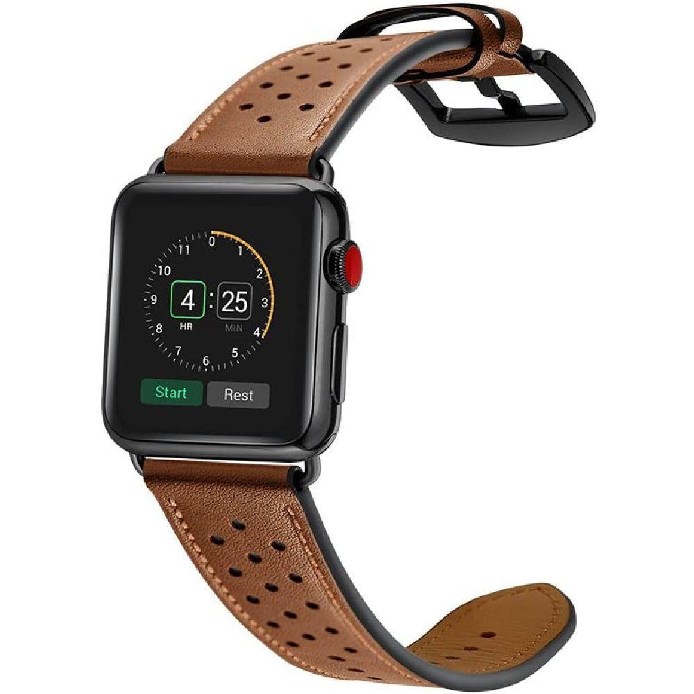 SQO 프리미엄 정품 가죽 시계 밴드 애플 시계 시리즈 1 2 3 4 5 현대 시계 밴드 교체 스트랩 42mm 44mm I