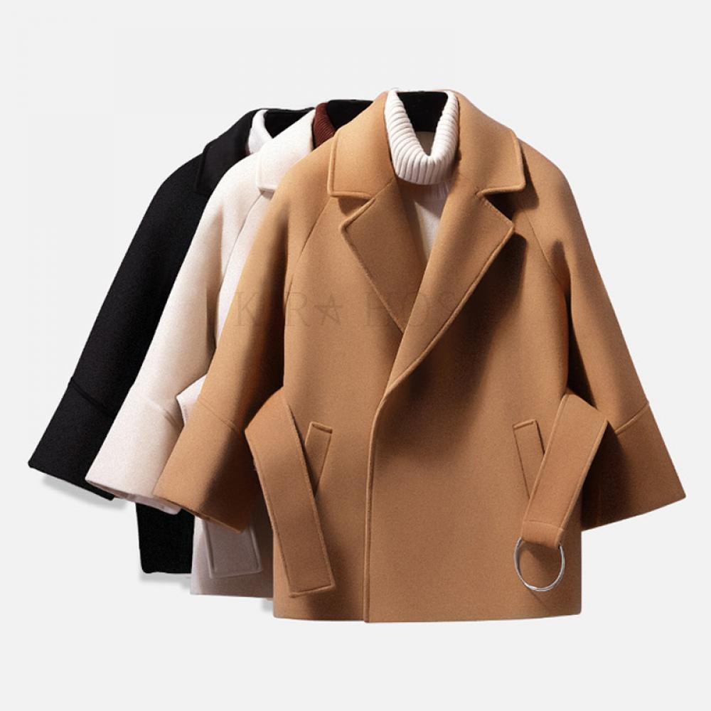 kirahosi 겨울 여성 모직 코트 패션 자켓 핸드메이드 여자 트렌치 외투 빅사이즈 16 GS 11 CEy0i0oj