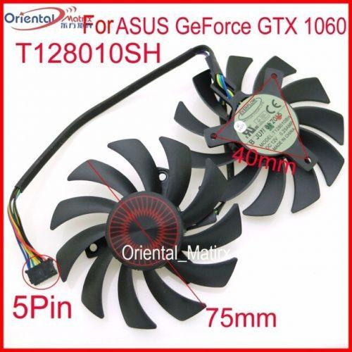 [해외] 2 T128010SH DC 12 V 0.25A 75MM VGA 팬 ASUS GEFORCE GTX 1060 GTX1063GSI 그래픽 카드 팬 5PIN, 상세내용표시