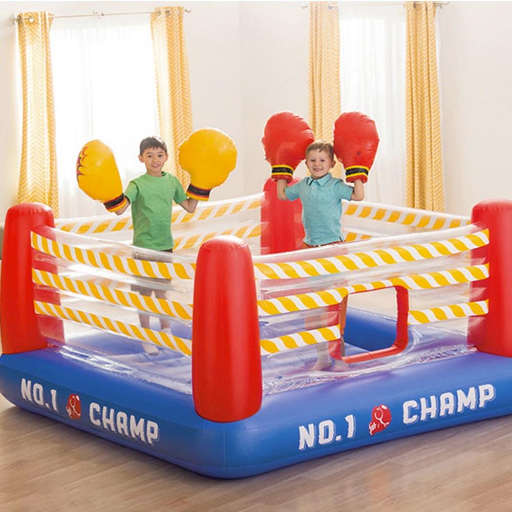 마켓굳음 가정용 에어바운스 점핑 트램폴린 홈바운스 유아 아기 어린이 방방이 대여X 에어펌프 제공, 복싱점프에어바운스
