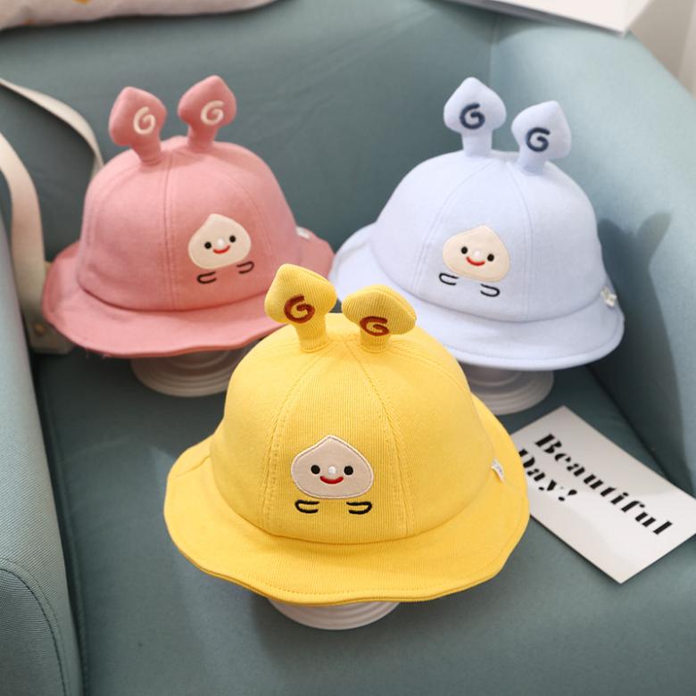 [레몬] 겨울 아기 벙거지 모자 1~3세 46~50cm 가림막 끈길이 조절 가능