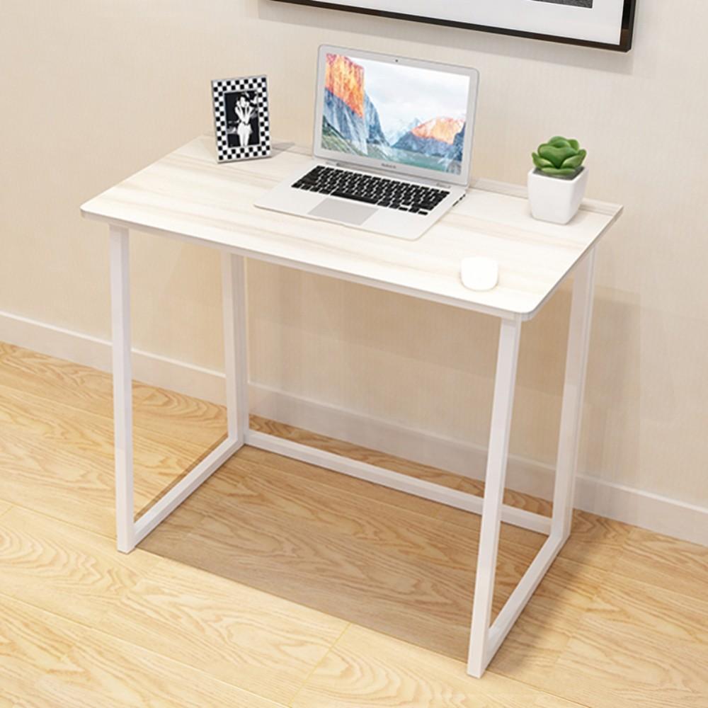 네츄럴 1인 가구 접이식 책상 초슬림 모델 원룸 자취방 접이 테이블, 접이식 책상 메이플 80 X45