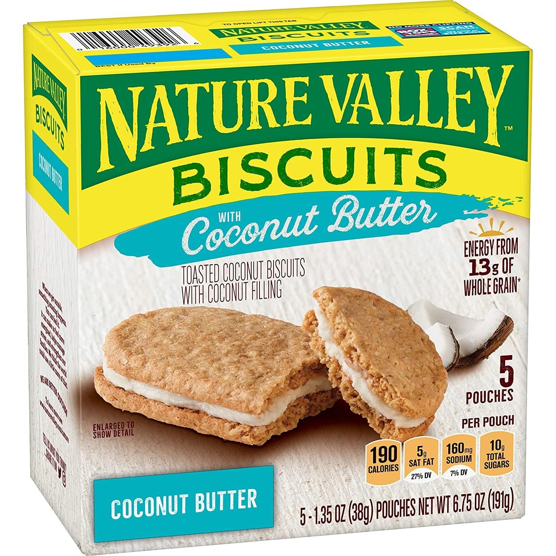 네이쳐밸리 비스킷 코코넛 버터, 38g, 5개입