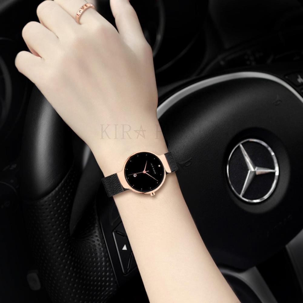 kirahosi 가을 겨울 고급 여성 손목 시계 패션 여자 와치 크리스탈 시계 332 HD9+덧신 증정