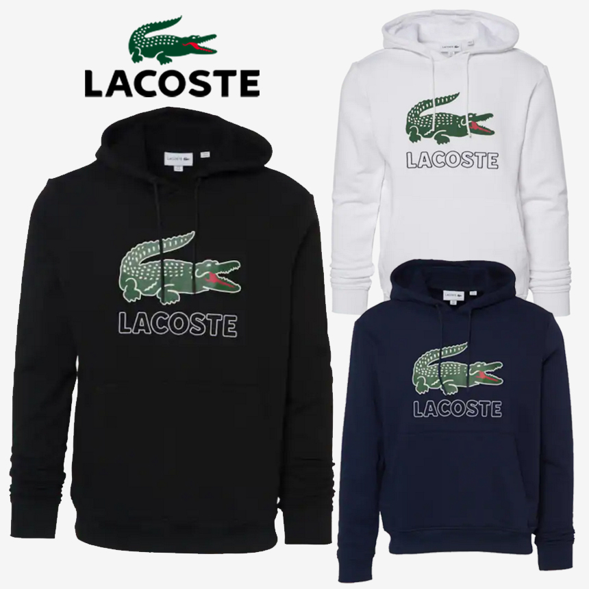 [해외] 미국정품 라코스테 Lacoste Graphic Croc Fleece Hoodie 남자 후리스 맨투맨 후드티