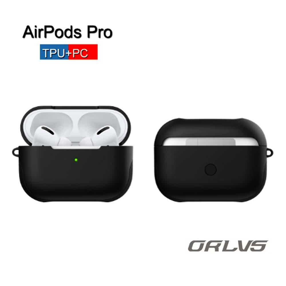 에어팟 에어팟프로 3세대 충격방지 하드 TPU 전용 케이스 ORLVS, 블랙, TPU 에어팟프로 3세대 케이스