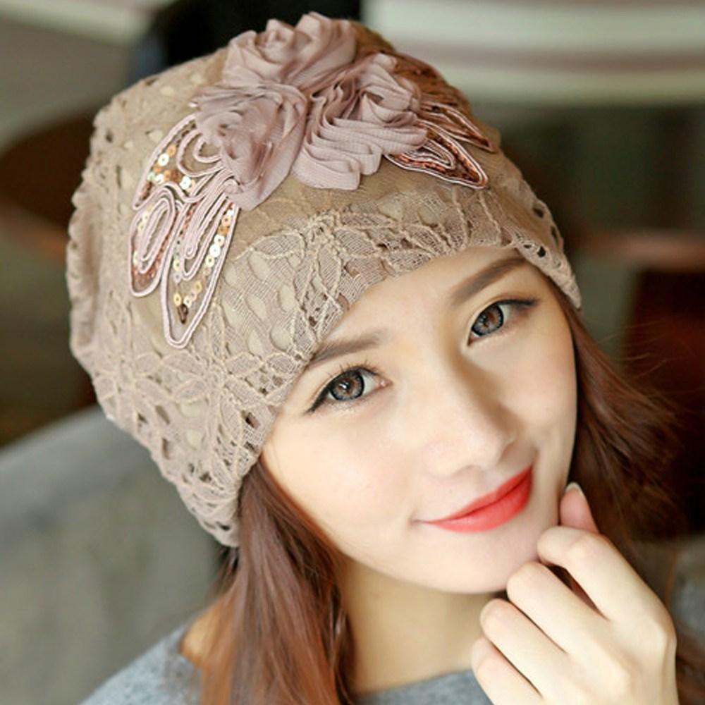 딸기공주 비니 여성 봄 가을 겨울 패션 항암 모자 여자 두건 머리두건