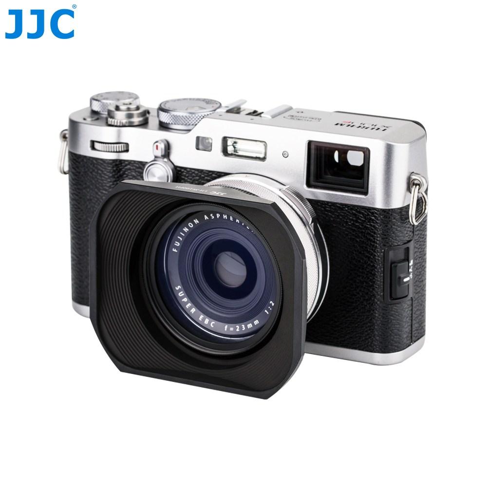 [JJC] 후지필름 X100 X100T X100F X100V 사각 렌즈 후드, 원형 - 블랙