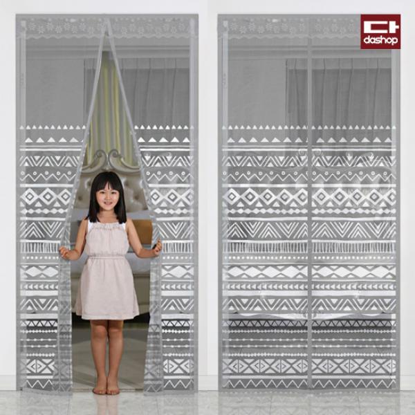 다샵 현관 방문 모기장 에스닉그레이 100x210, 단일상품