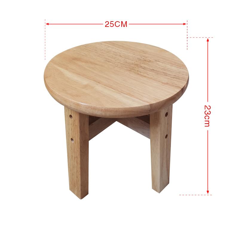 103135 스툴 나무 가정용 성인 원형의자 원의자 네모난 나무의자 네발 거실 작은의자 낮은의자, 둥근 의자 높이 23CM
