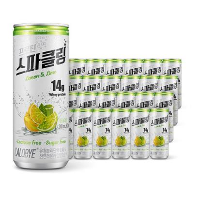 칼로바이 프로틴 스파클링 레몬 엔 라임, 240ml, 96개입