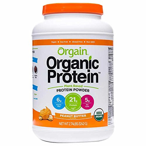 Orgain Organic Plant Based Protein Powder (.2.74lb PeanutButter), 본문참고, Orgain Organic Plant Based Protein Powder (.2.74lb, PeanutButter)
