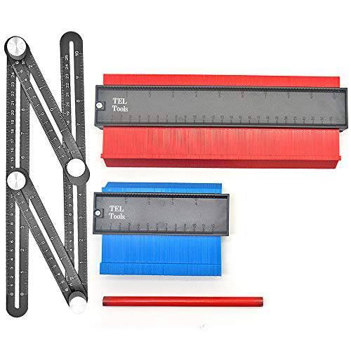 4 피스 툴 세트   알루미늄 합금 멀티 앵글 측정 자   TEL Tools의 5 인치 ?