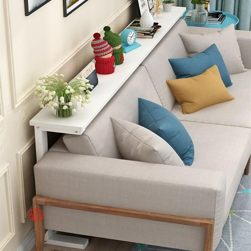 좁고긴 폭좁은테이블 책상 침대틈새선반 쇼파뒤책장 얇은슬림 한뼘 틈새테이블, 블랙프레임100x20x80 cm