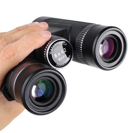 Bosma 망원경 HD 고배율 야간 투시경 휴대용 핸드 헬드 쌍안경, 01.8x42 [8 배 확대, 대형 접안 렌즈, 방