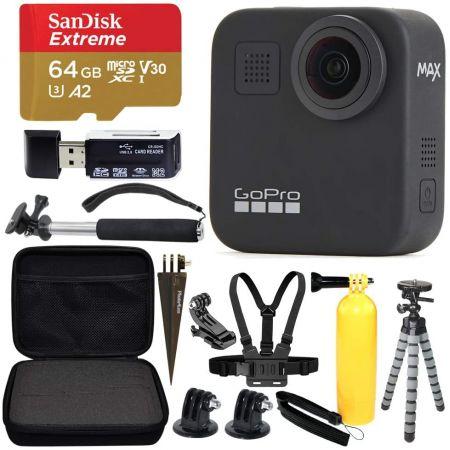 [아마존베스트]GoPro MAX 360 Sports Action Camera + SanDisk Extreme 64GB microSDXC + Top Value Bundle, One Color_One Size