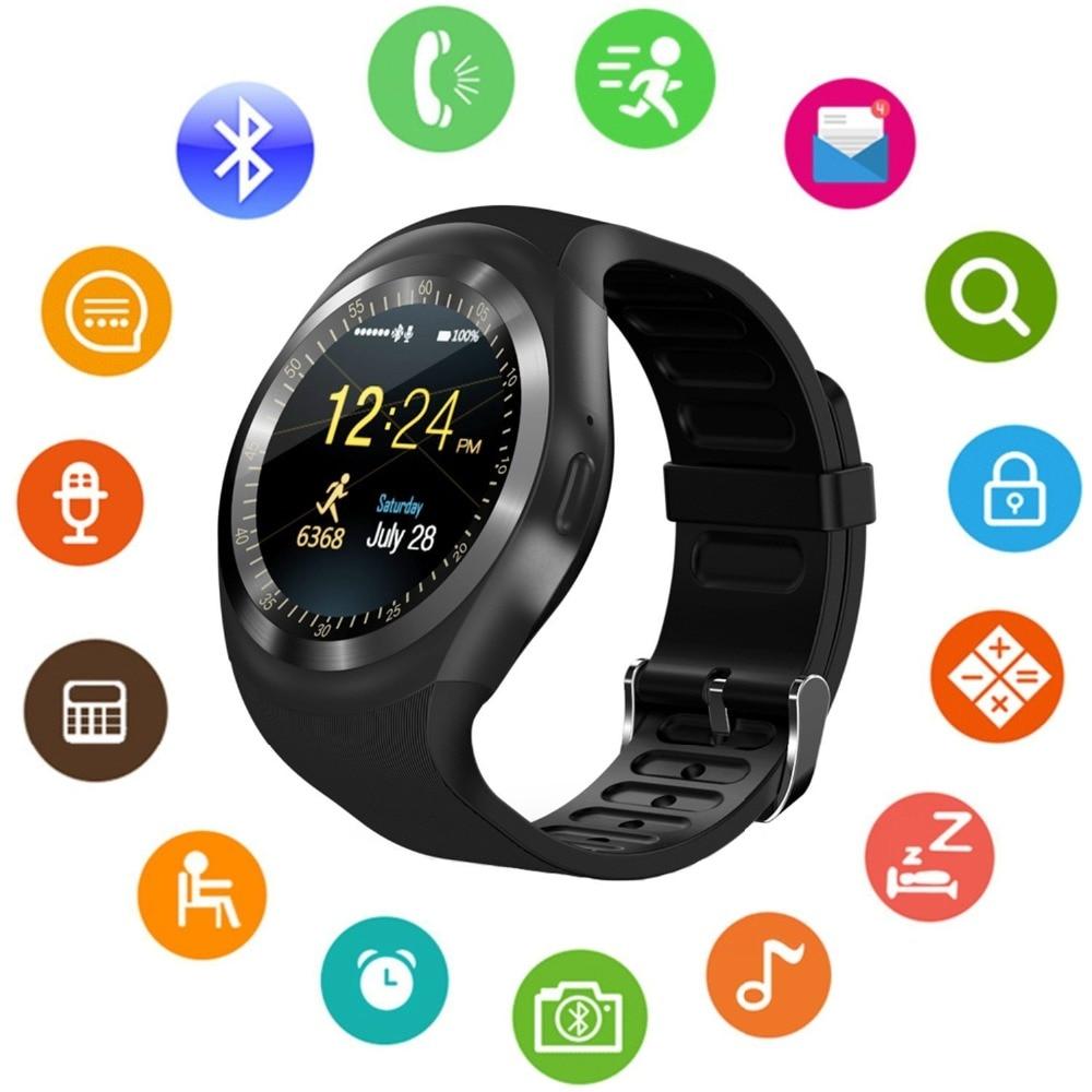 Smartwatch 블루투스 스마트 시계 터치 스크린 휴대 전화 시계 수면 모니터 잠금 해제 시계 핸드폰 남성 여성을위한, Add a memorycard 8G, white
