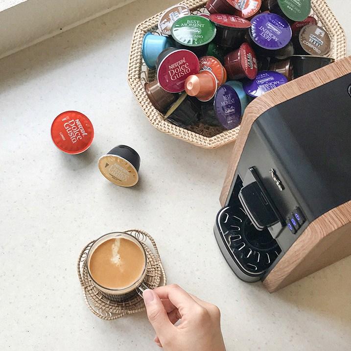 커피비 가정용 커피머신 아떼 우드 네스프레소 호환 돌체구스토 호환 카피탈리 캡슐커피머신 전자동 멀티 캡슐 머신