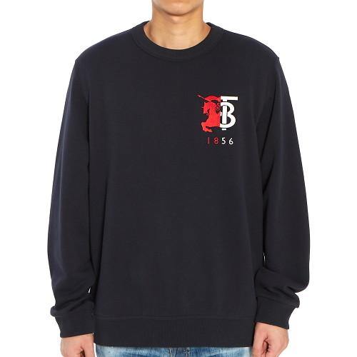 [버버리] 컨트라스트 로고 그래픽 MUNSTONE 8022310 A1222 남자 긴팔 맨투맨 티셔츠
