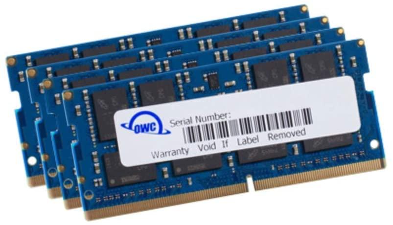 OWC 64GB (2 x 32GB) 2666MHz DDR4 PC4-21300 SO-DIMM 260 Pin Memory Upgrade (OWC2666DDR4S64P) for 2019-2020 27 inch iMac-B07PTRZSHB, 128 GBone size