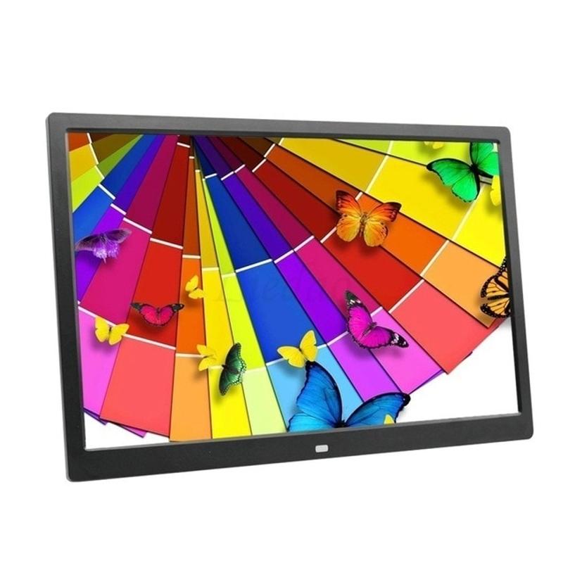 디지털 액자 15 인치 LED 백라이트 HD 1280800 전체 기능 디지털 사진 뮤직 비디오 전자 앨범 전자 사진, 영국 플러그, 검은 색