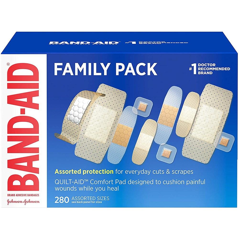 밴드 에이드 상처밴드 반창고 패밀리팩 280개입 (POP 4717790796)