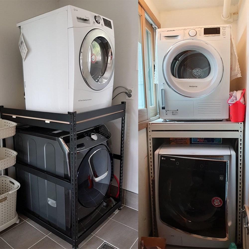 건조기선반 직렬설치 세탁기선반 세탁실선반 건조기다이, 화이트(800x900x1200)