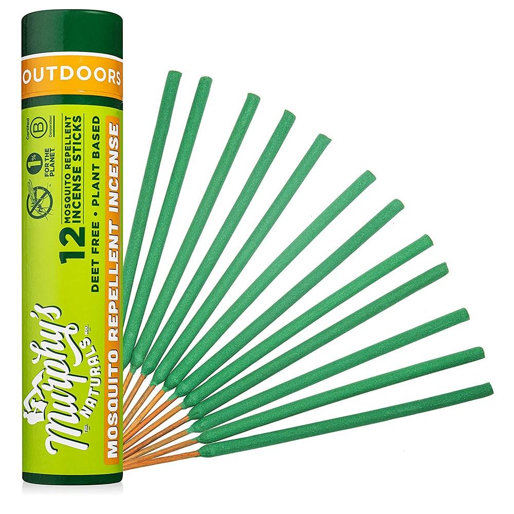 Murphys Naturals Mosquito Repellent Incense Sticks 머피스 내추럴스 모스키토 리펠런트 인센스 스틱 12스틱 2팩