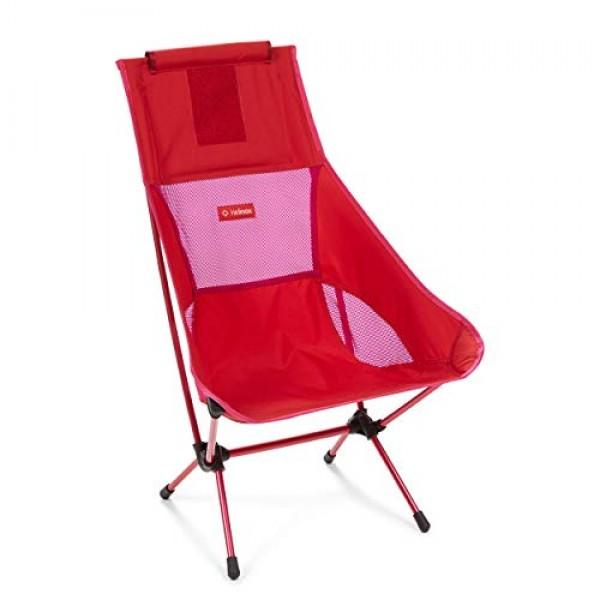 Helinox Chair 2 캠핑 의자 접이식 의자 알루미늄 라이트 안정 접이식 휴대용 케이스 빨간색 블록 하나의 크기 포함 H