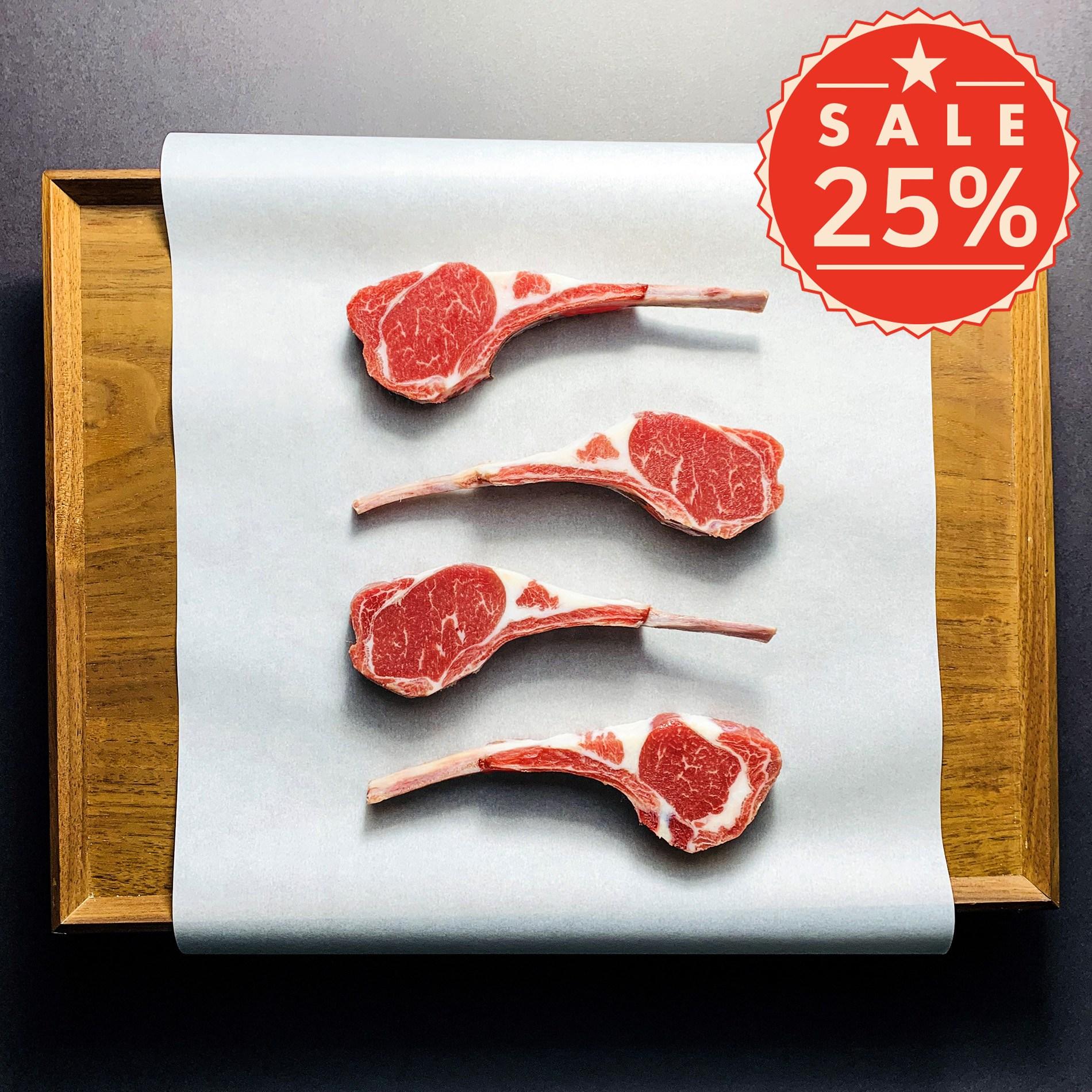[고기선생] 프리미엄 양갈비 (프렌치랙)(프렌치렉) 500g 호주산 램등급 냉동 스테이크용 구이용, 1개