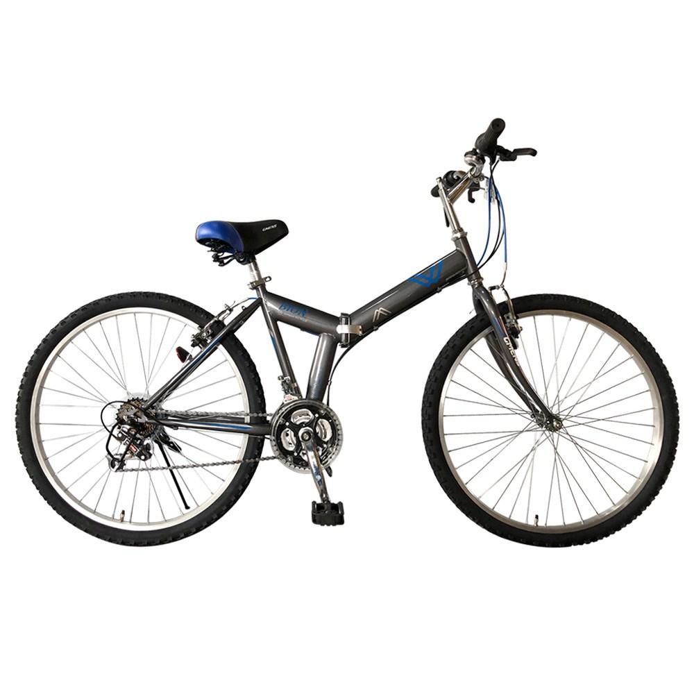지멘스 비온 26인치 접이식자전거 신형21단기어 폴딩 출퇴근자전거 MTB 자전거, 170cm, 비온26인치(크롬실버)_미조립 기본박스