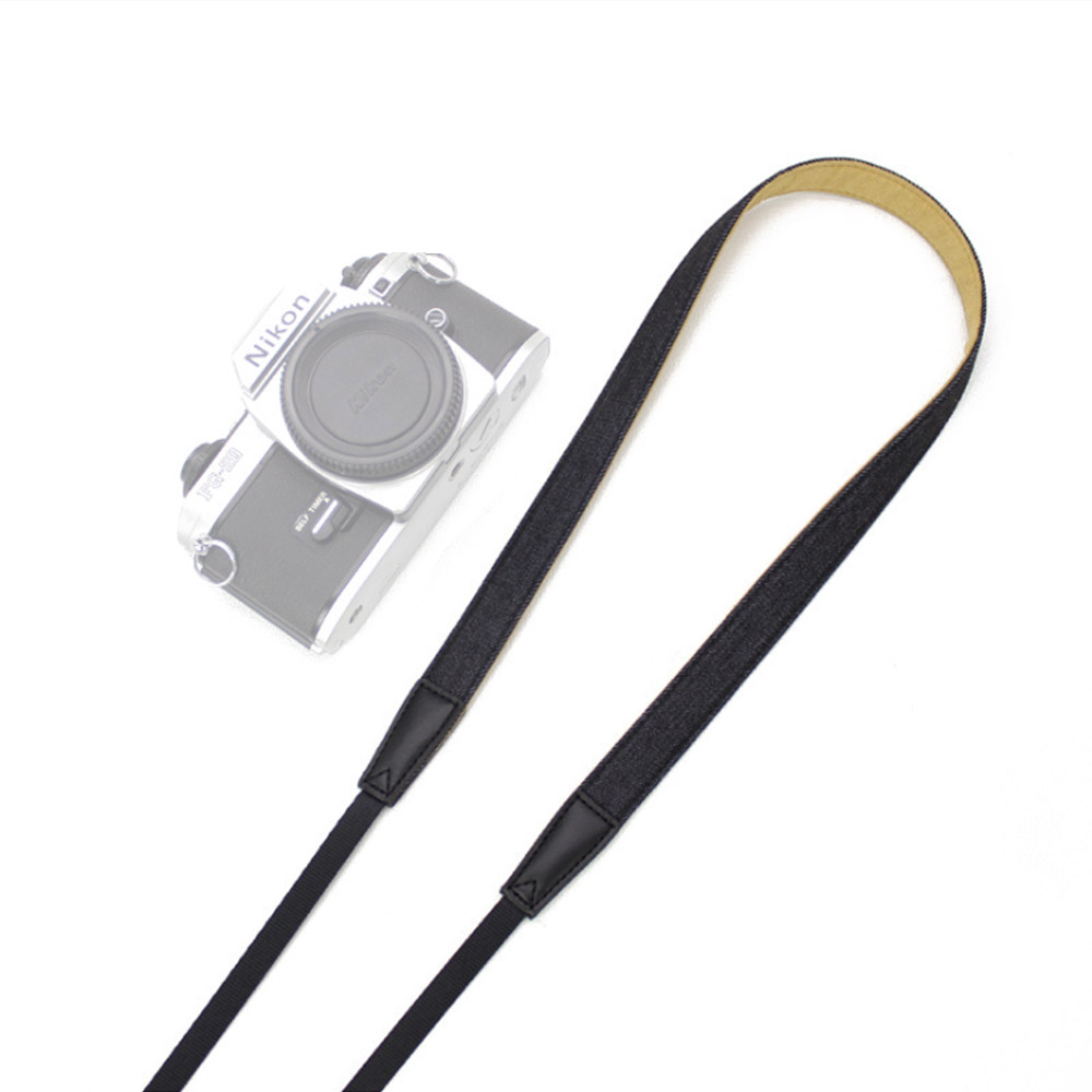 필템 카메라스트랩 넥스트랩 끈, 카메라스트랩(심플데님-폭2cm) 블랙