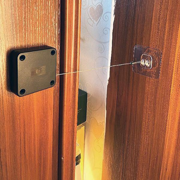 자동 도어 클로저 문닫힘 와이어 실내문 미닫이 안방, 블랙