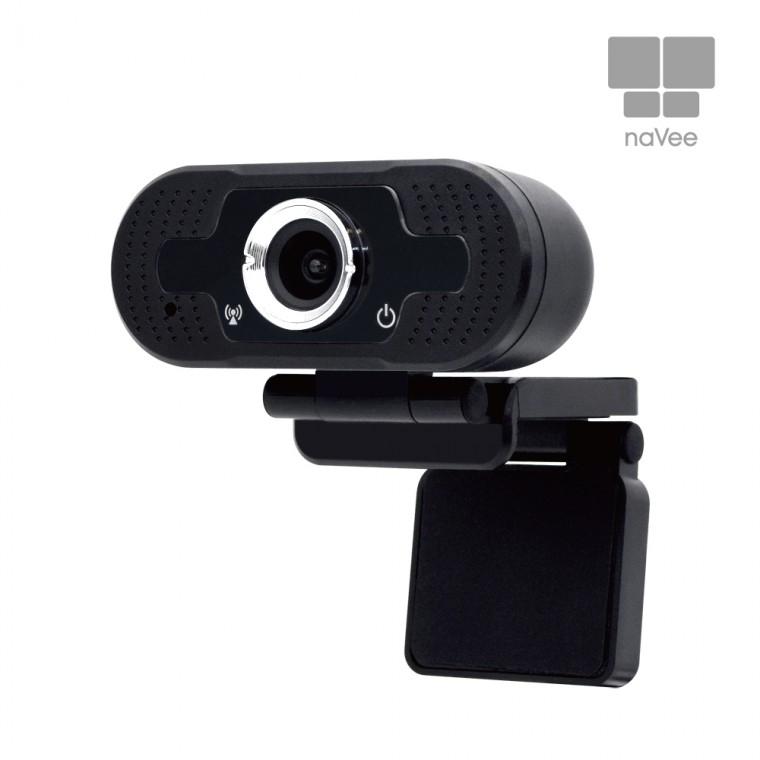 naVee 브로드캠 어학용 온라인수업 고성능 웹캠 화상캠 화상카메라 마이크 노이즈캔슬링, NV50-hd220s