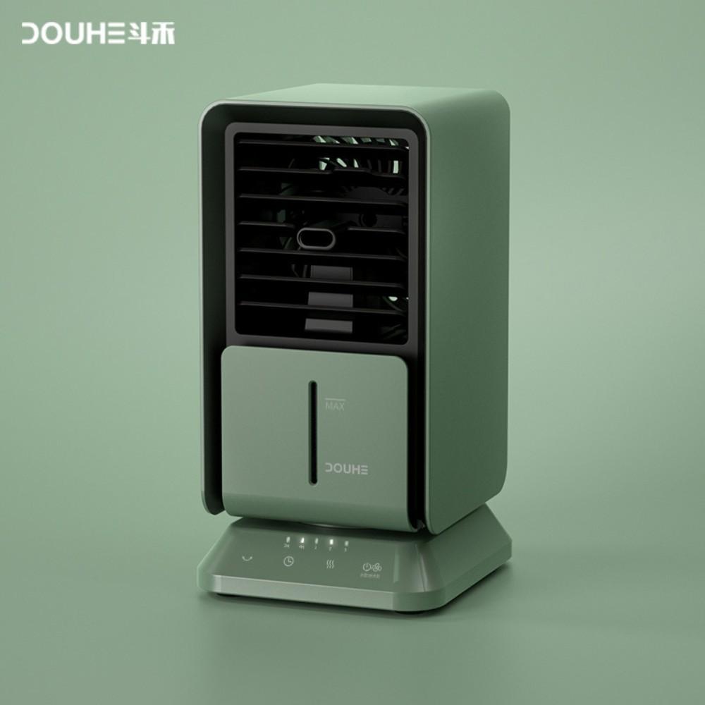 샤오미 냉풍기 가정용 사무실 휴대용 탁사용 저소음 미니 소형 에어컨 에어쿨러, 청록색 (POP 5697376800)