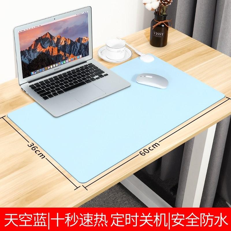 온열 발열 키보드 책상 컴퓨터 사무실 데스크패드 마우스패드난방 마우스 패드 난방 핸드, 스카이 블루-미디엄 60  36cm 3C 인증 -