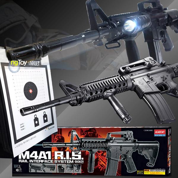 아카데미과학 [전동건]M4A1 RIS+레일장착후레쉬 세트